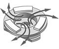 Вынос шлама за счет оптимально подобранной формы и расположения сегментов
