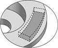 Увеличенная площадь пайки сегмента