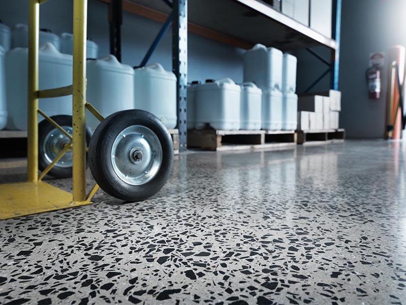 Полированный бетонный пол по технологии Husqvarna Hiperfloor