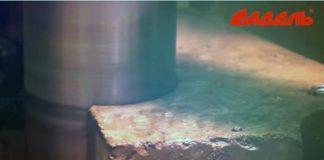 Сверление отверстия с выпуском арматуры 2/3 коронки в бетоне